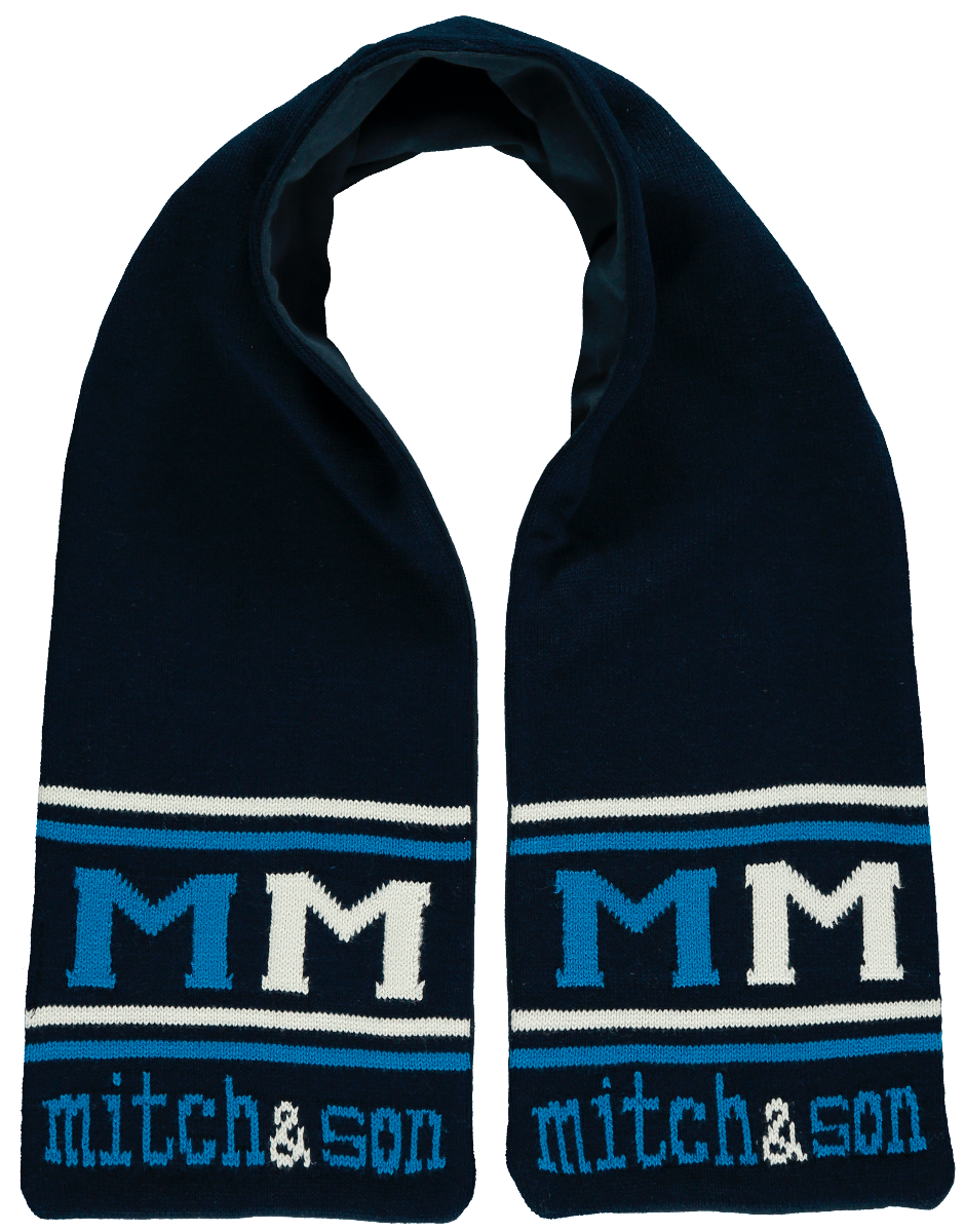 Mitch and son navy scarf