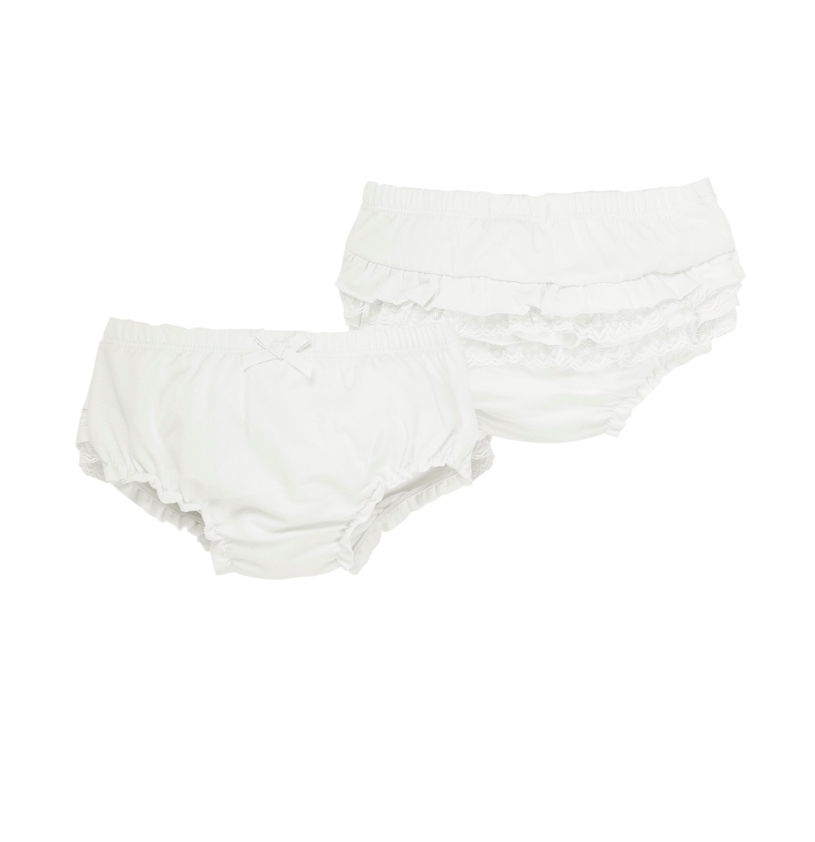 EMC White Frilly Knickers BF8051