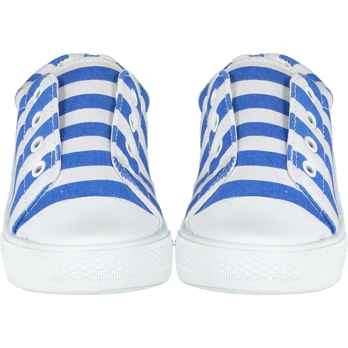 A'Dee Blue Stripe Laceless Trainers S215101