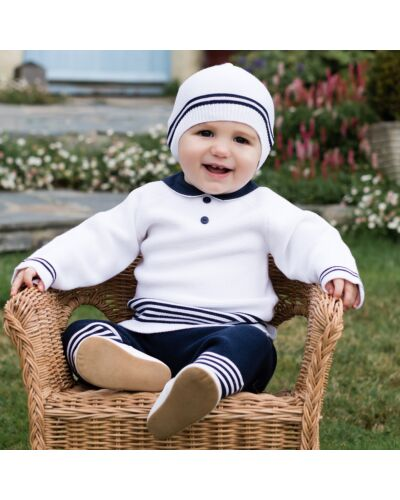 Emile et Rose Silas 2pc knitted suit with hat
