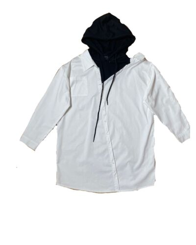 NAVY London White Hoodie Shirt