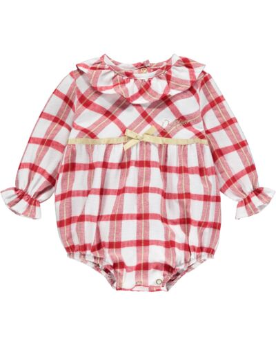 Little A Red Check Bobby Romper LW21113