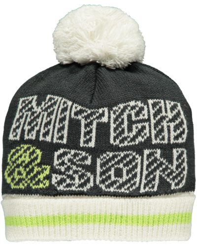 Mitch and son winter white Hat