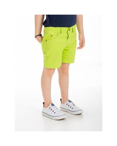 UBS2 Lime Cotton Shorts