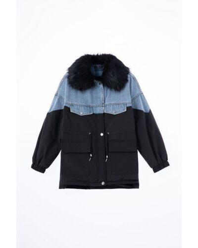 NAVY London Black Padded Coat