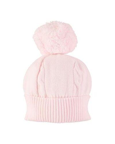Emile et Rose Pink Fuzzy Bobble Hat 4658pp
