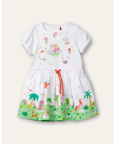 Oilily White Teacup Jersey Dress YS21GDR080