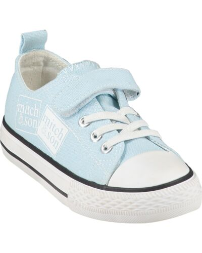 Mitch & Son Pale Blue Stamp Trainers MS21SH1