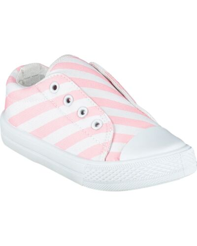 A'Dee Pink Stripe Laceless Trainers S215101