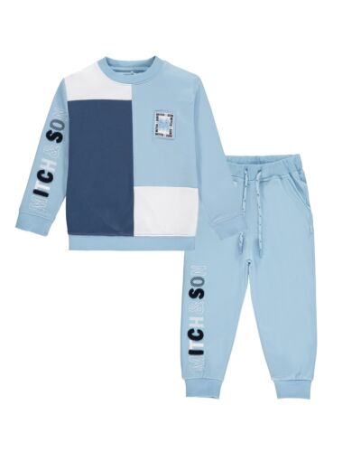 Mitch & Son Pale Blue Piccadily Tracksuit MS21405
