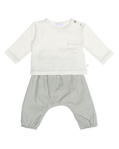 Laranjinha Blue Stripe 2pc Set I0088