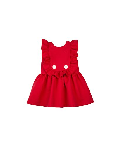 Rochy Red Frill Dress T07082