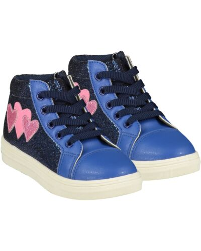 A'Dee Bright Blue Heart Boots W215102