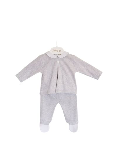 Baby Gi Grey Velour 2pc Set