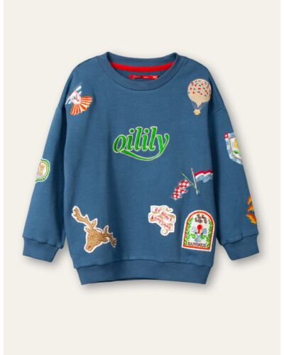 Oilily Blue Heritage Sweater YS21BHJ502